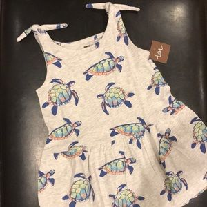 NWT Tea Collection Turtle Dress 18-24